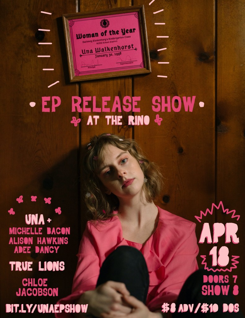 "Una Walkenhorst ""Woman of the Year"" release show April 18th."