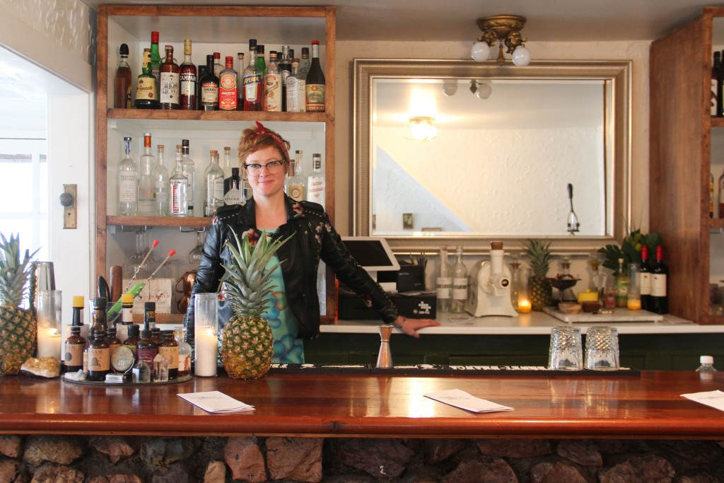 A photo of Kate Frick at the now-shuttered Myers Hotel Bar.