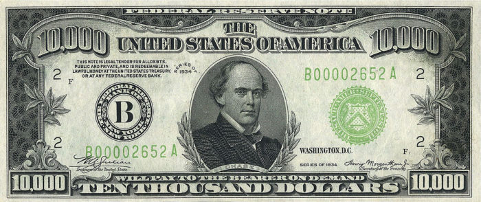 10000 Usd Note Series Of 1934 Obverse E1586496864440