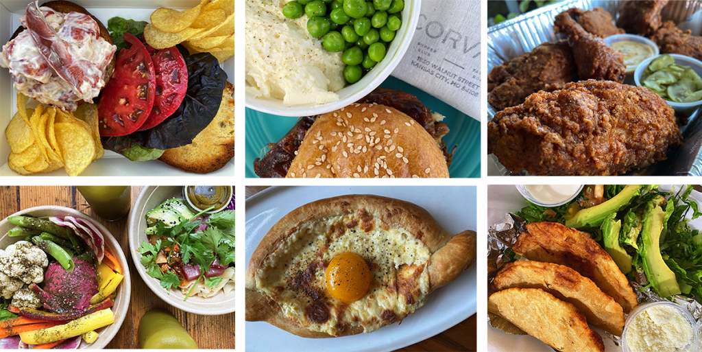 An image of food sold as takeout this year