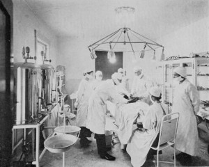 Operating Room At The Brinkley Hospital Goat Gland Transplantation1921wikimediacommons