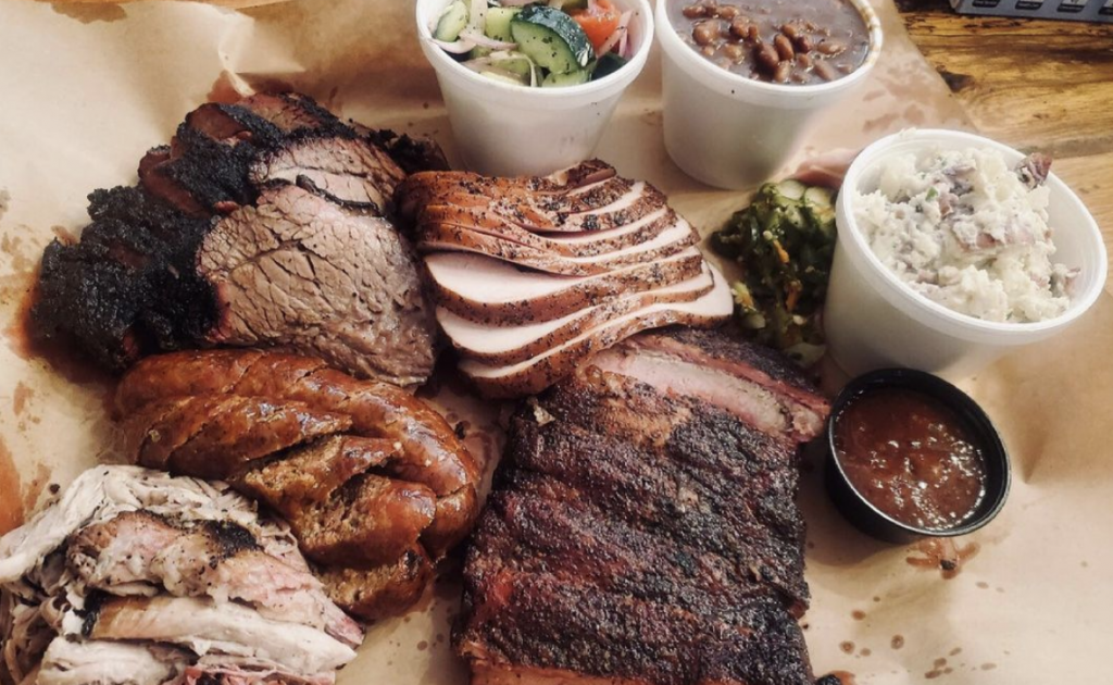 A photo of smoked meats from Chef Js BBQ in Kansas City