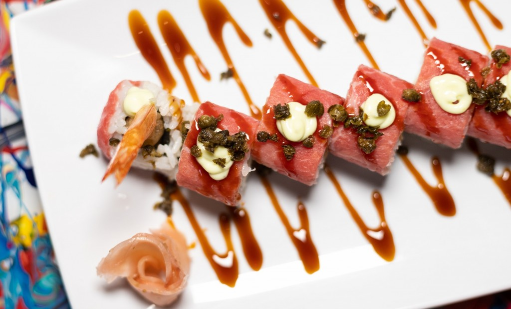 A photo of sushi from Society in Kansas City
