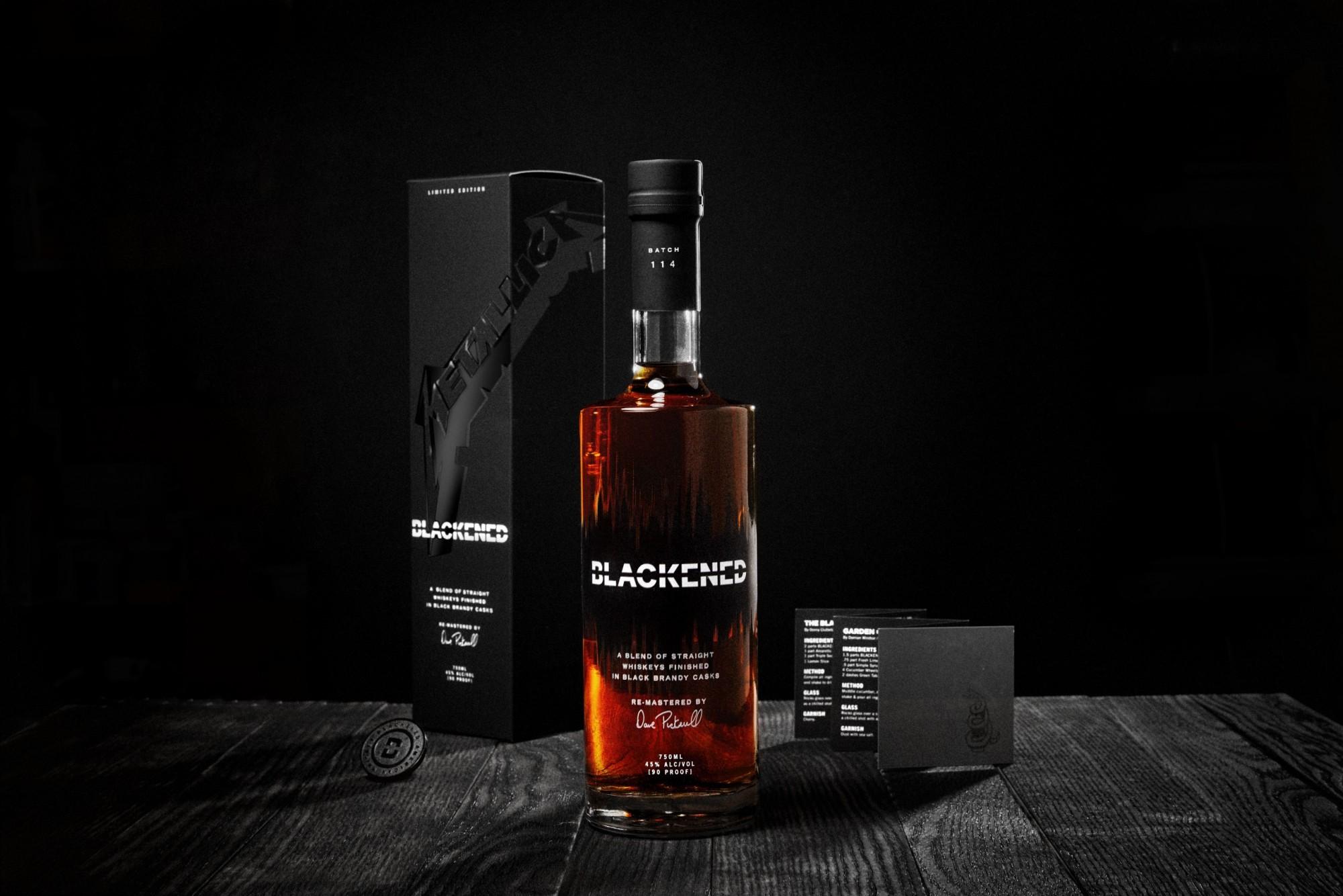 Blackened Black Album Commemorative Pack Photo Credit Blackened Whiskey