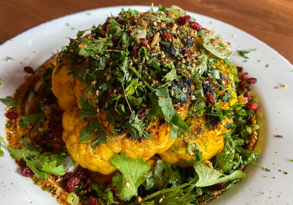 A photo of the new cauliflower dish at Extra Virgin in Kansas City.