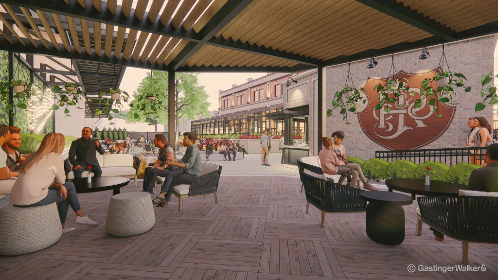 A rendering of the expansion at J. Rieger and Co. Distillery in Kansas City.