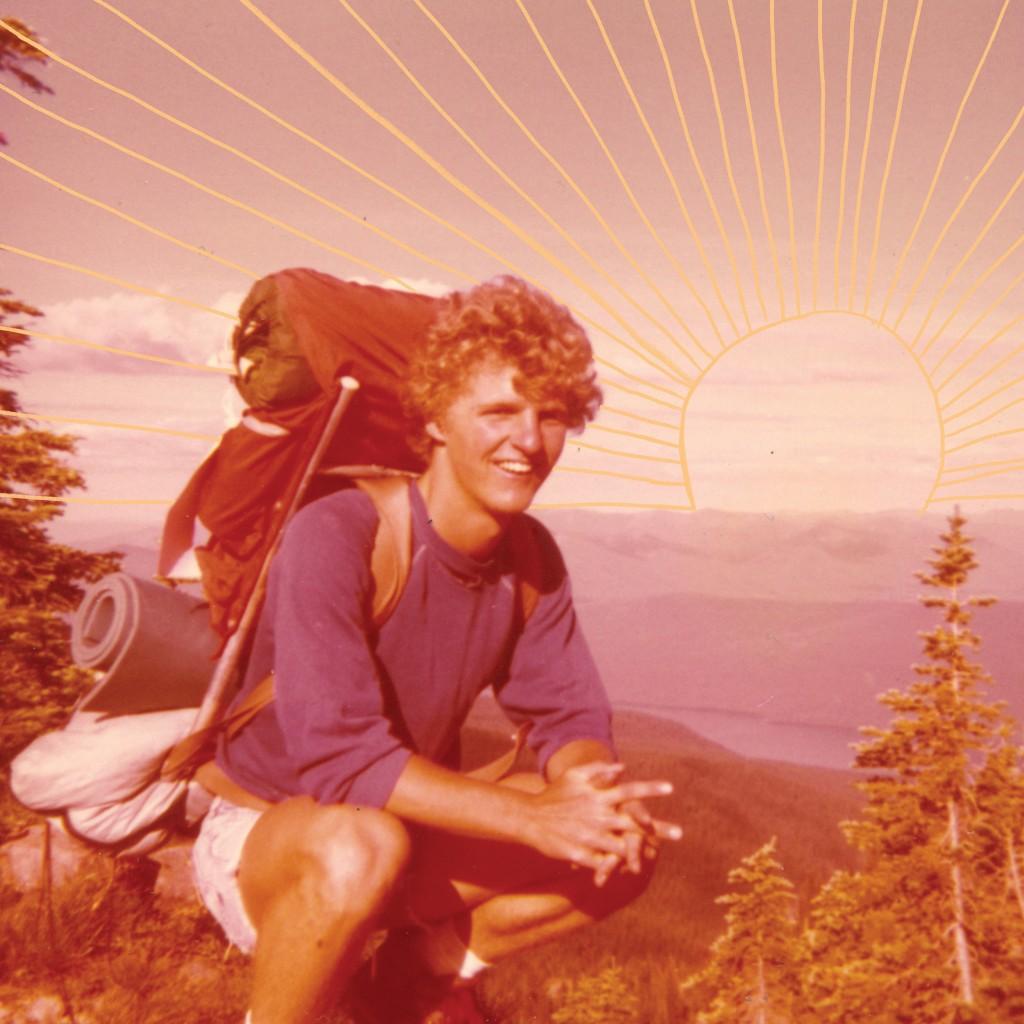 Kraske hiking Glacier National Park in 1976