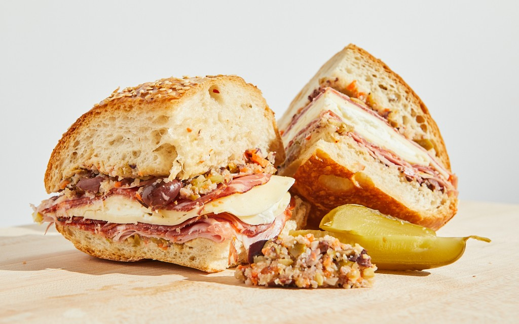 A photo of the muffaletta from King G in Kansas City