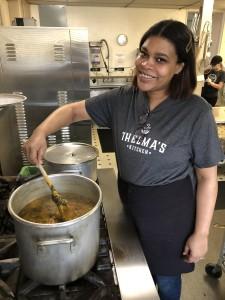 Natasha Bailey, Thelma's Kitchen Lead Cook. // Photo courtesy Thelma's Kitchen