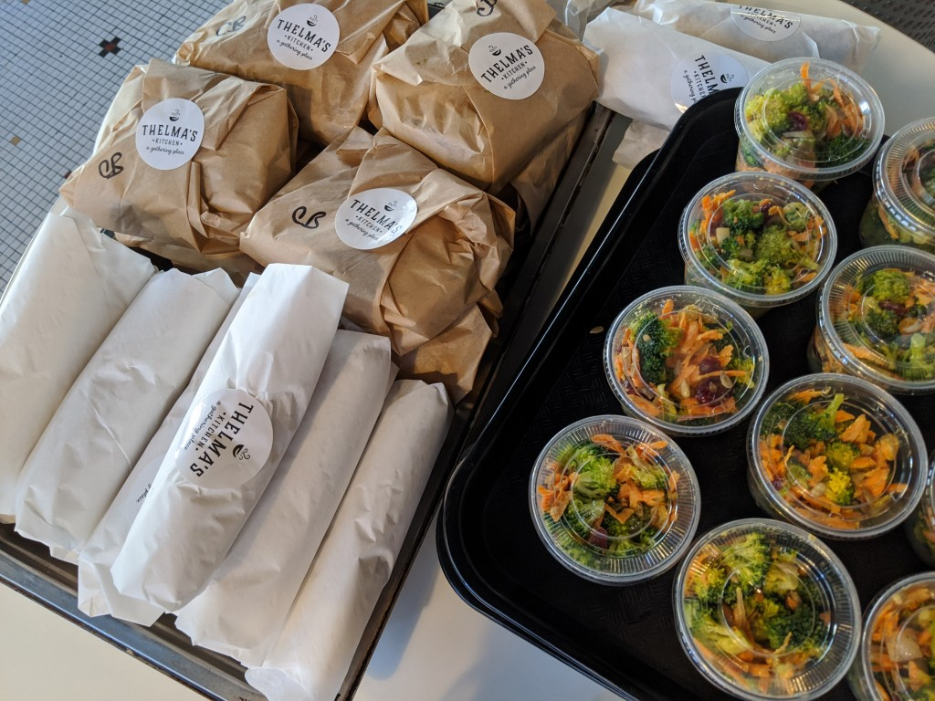 Lunch from Thelma's getting ready for boxes. // Photo courtesy Thelma's Kitchen